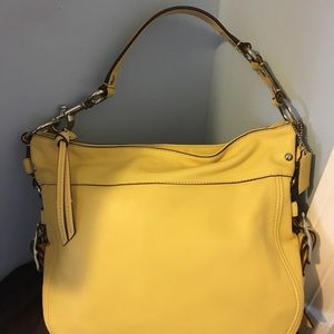 Purse in buttery yellow